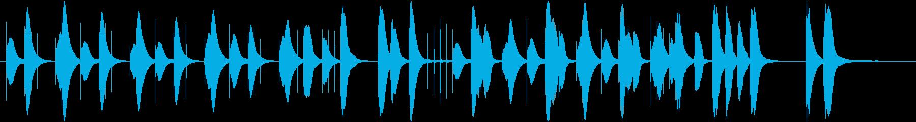 可愛らしいまったりした曲です。の再生済みの波形