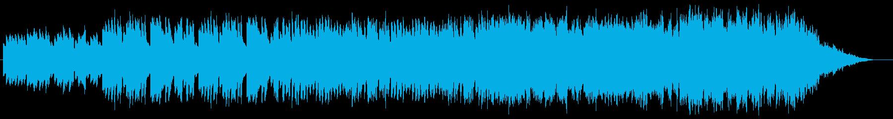 優雅な雰囲気のハープシコードの曲の再生済みの波形