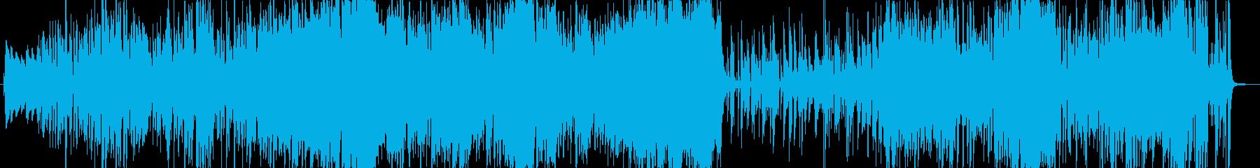 サックスとトランペットの軽快なジャズの再生済みの波形