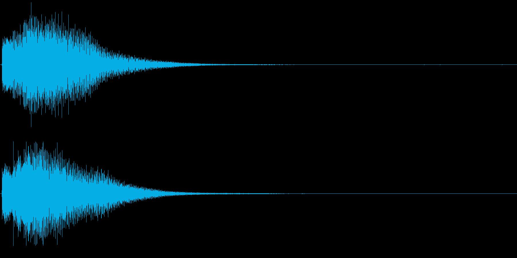 ティロリロン お知らせ ニュース音の再生済みの波形