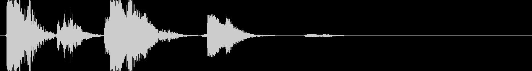風鈴類の音の未再生の波形