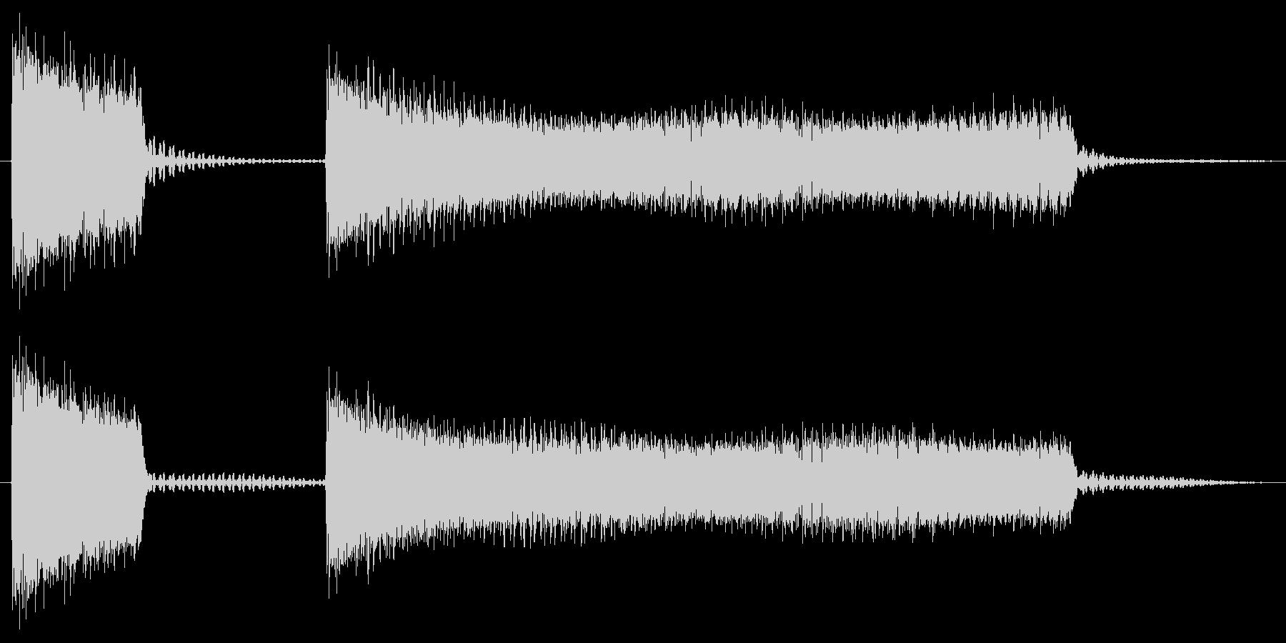 ブッブーッ/間違い/クイズの未再生の波形