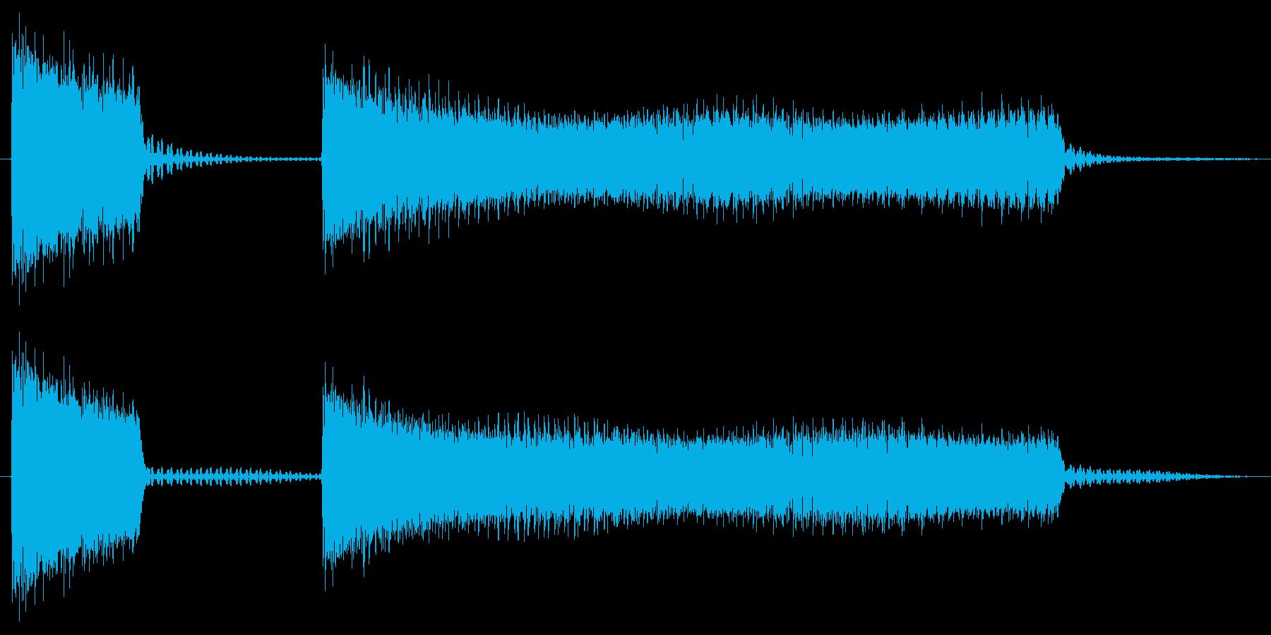 ブッブーッ/間違い/クイズの再生済みの波形