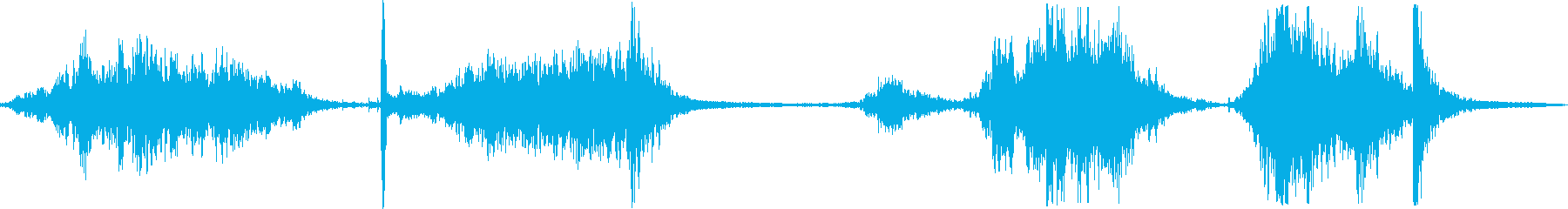 ドアメタルローリングゲートランブルの再生済みの波形