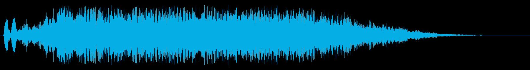 ヒューン(風の吹くような効果音)の再生済みの波形