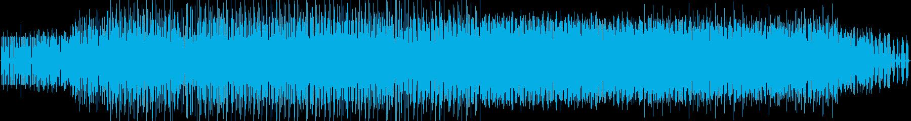 長めの追跡シーンのためのテクノ の再生済みの波形