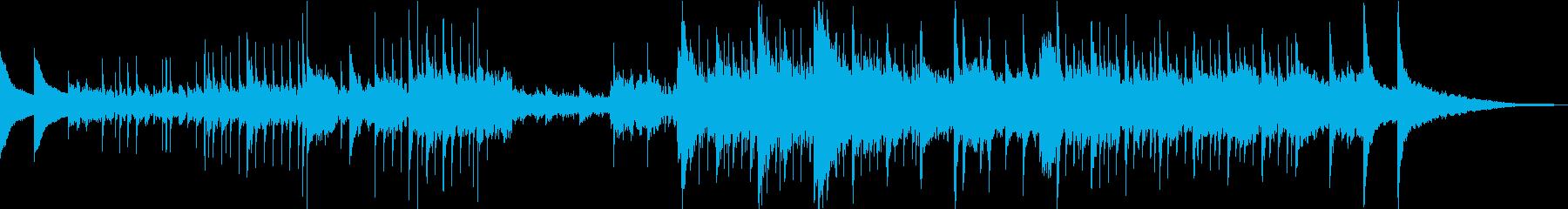 お経、鐘、神聖なイメージの曲の再生済みの波形