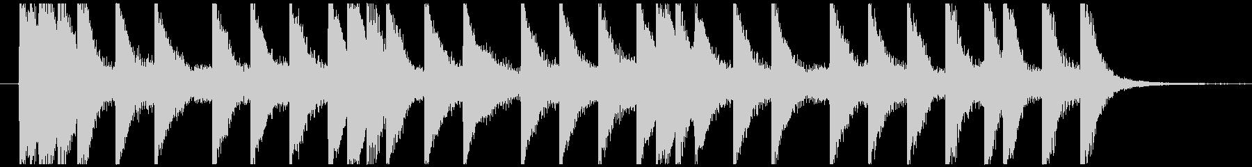 マリンバによるボップなジングル・キャッチの未再生の波形