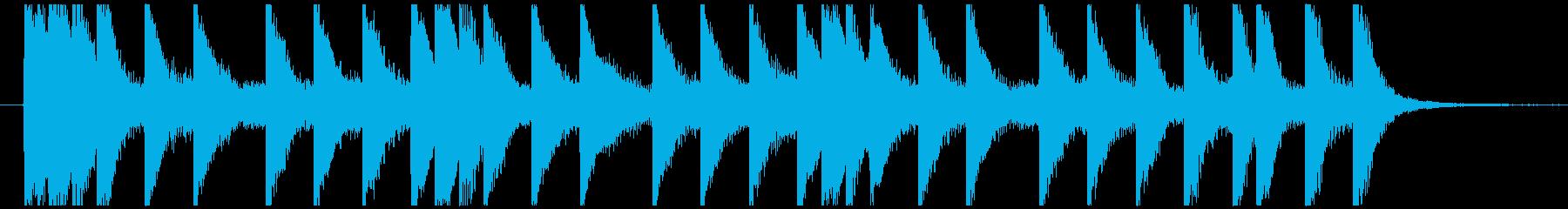 マリンバによるボップなジングル・キャッチの再生済みの波形