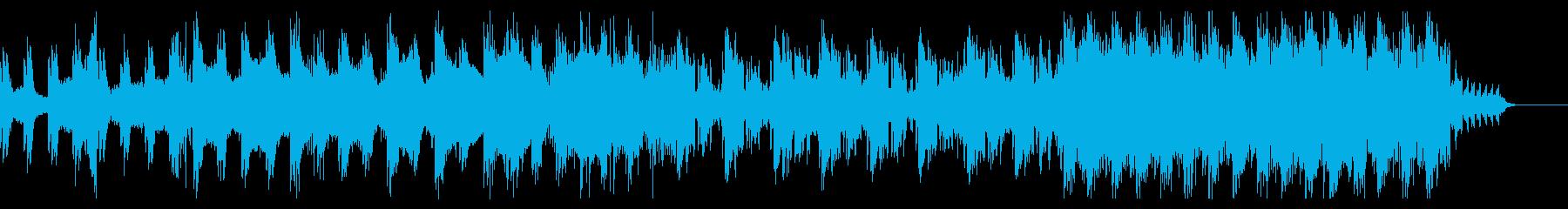 ピアノ主導のダークな曲の再生済みの波形