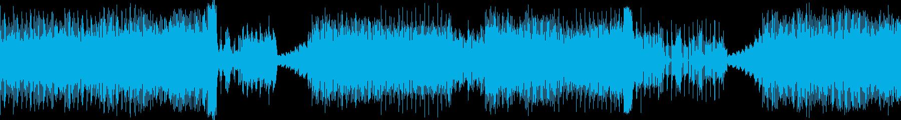 ノリの良いテクノポップの再生済みの波形