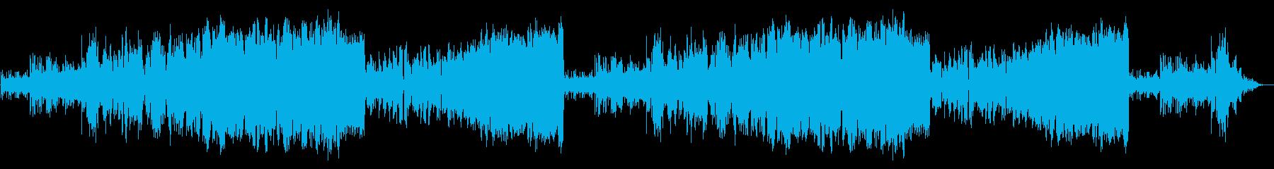 「始まり」を予感させる爽やかなオケ曲の再生済みの波形
