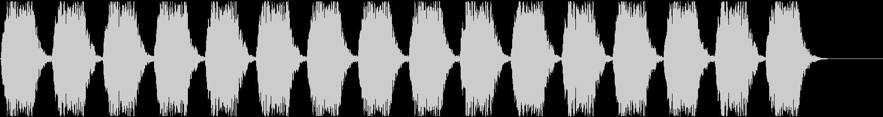 警報アラーム音(中bpm58)ルーム残響の未再生の波形