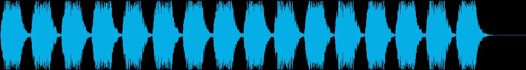 警報アラーム音(中bpm58)ルーム残響の再生済みの波形