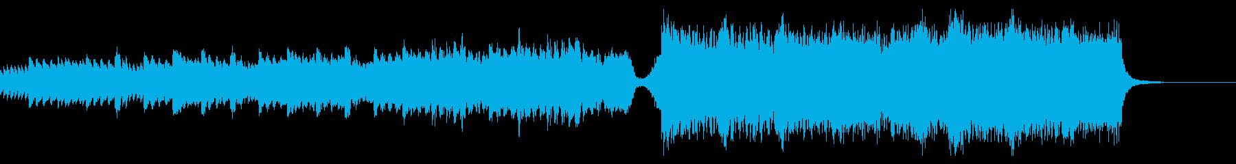 ピアノとストリングスの壮大なBGMの再生済みの波形