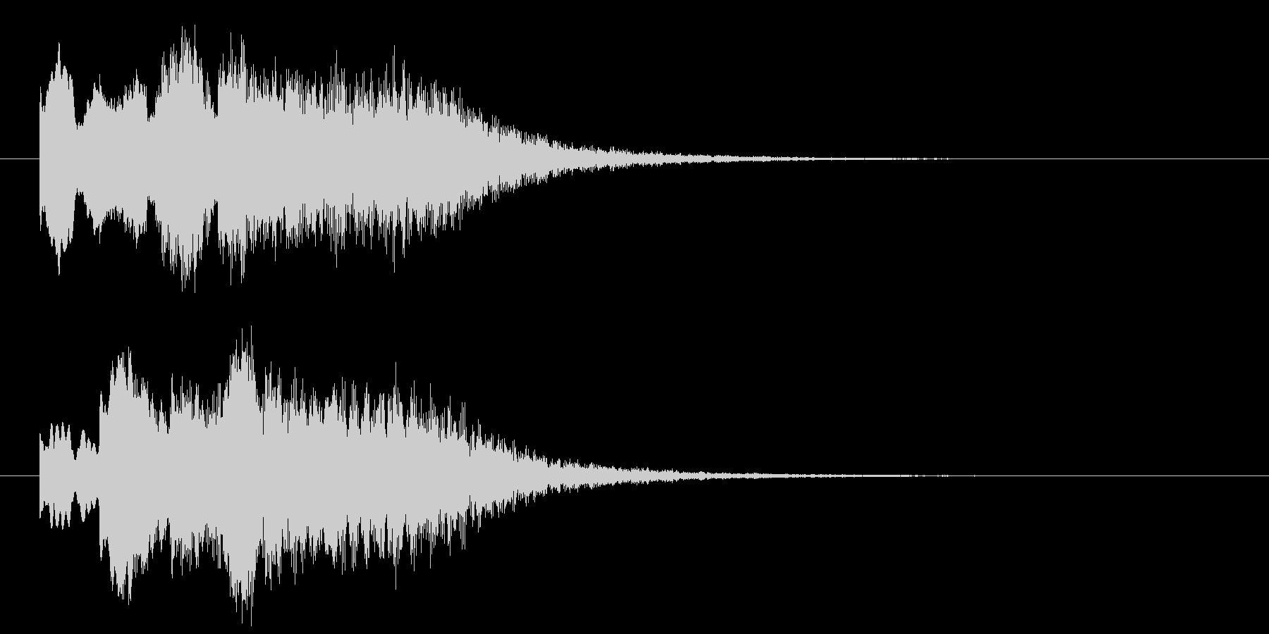 古いパソコンの終了音風ジングル4の未再生の波形