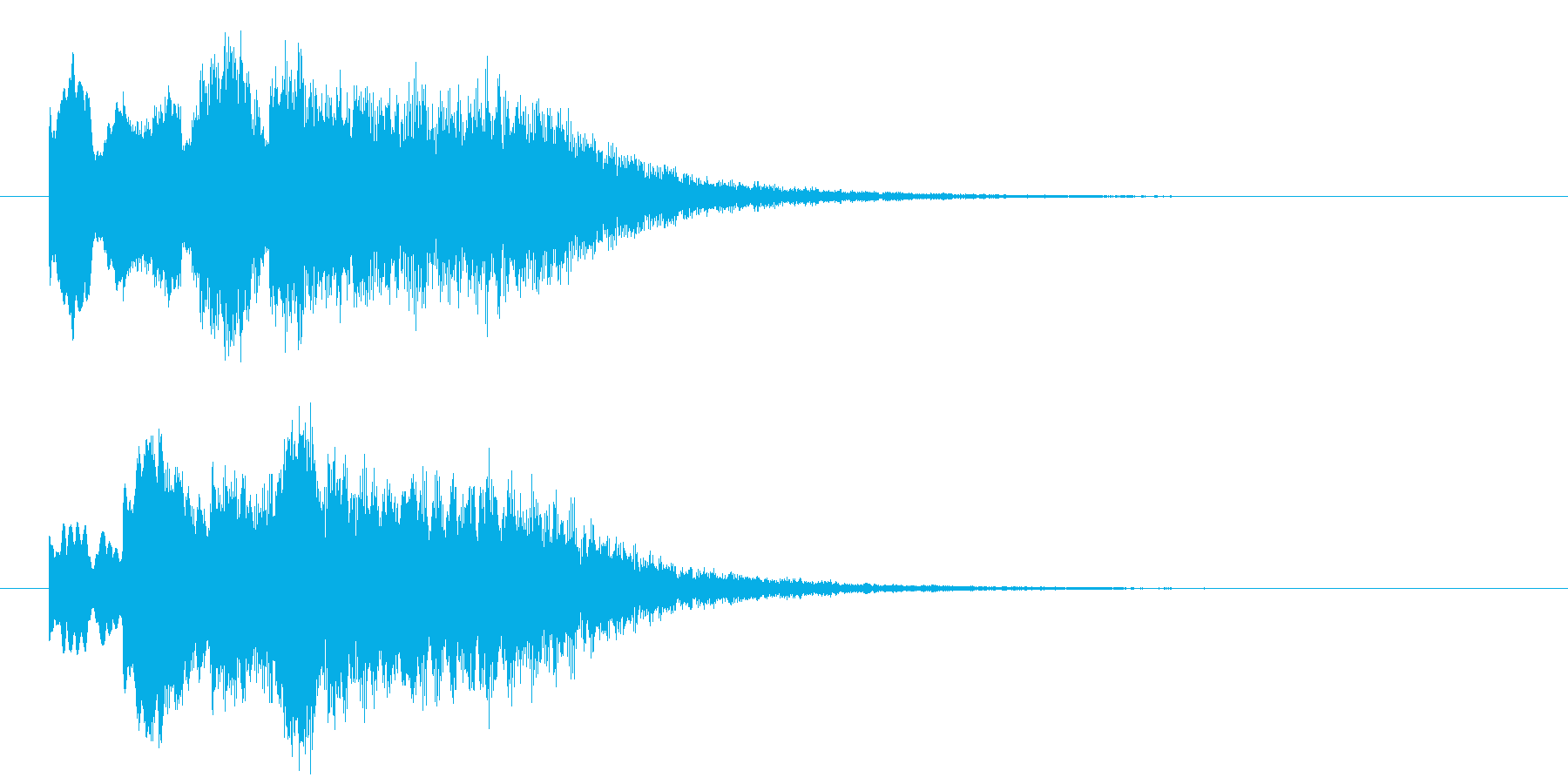古いパソコンの終了音風ジングル4の再生済みの波形