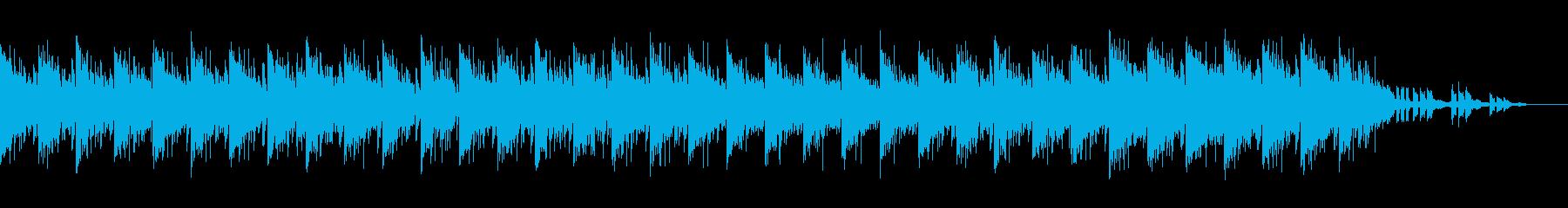 ミドルテンポの暗いEDMの再生済みの波形