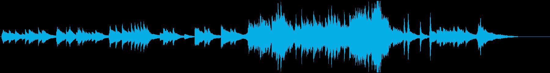 どこか日本の田舎町を連想するピアノ曲ですの再生済みの波形