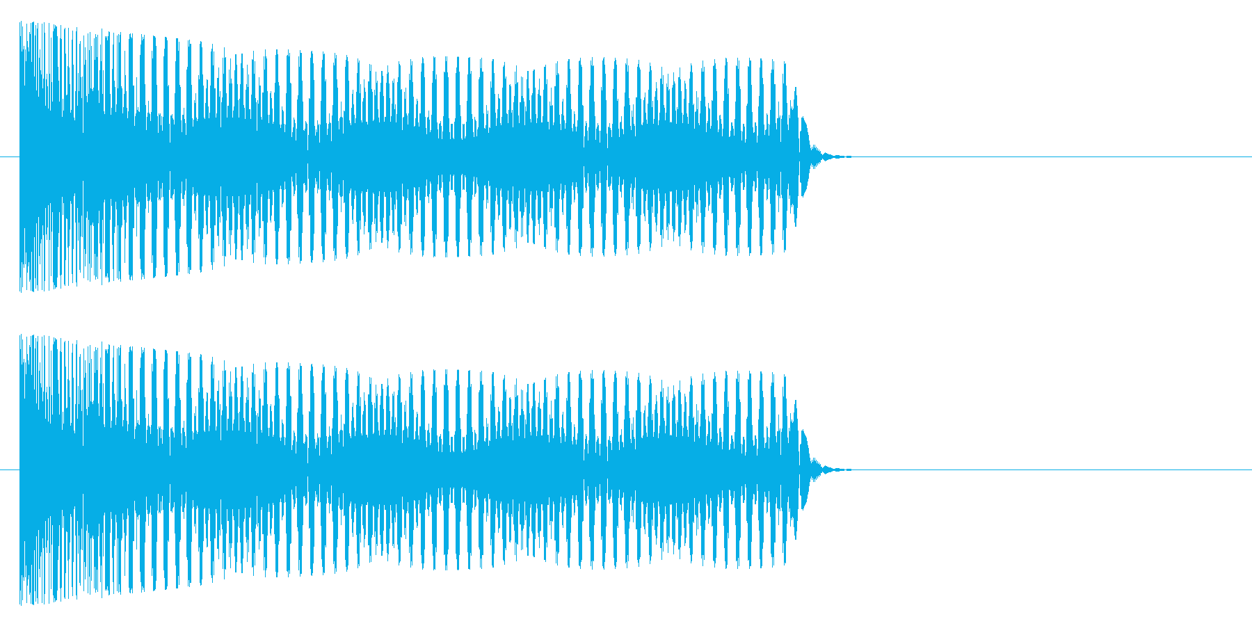 トゥーー(オルガン系)の再生済みの波形