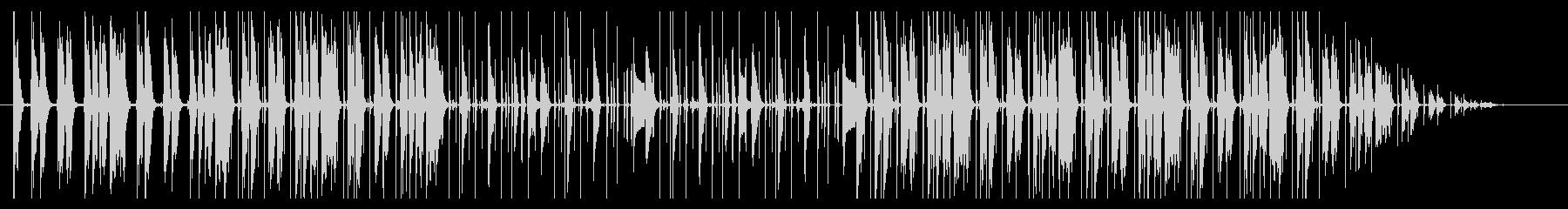 穏やかな印象 lo-fi hiphop の未再生の波形