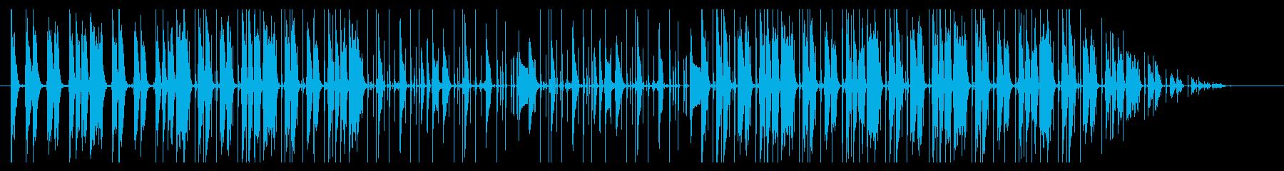 穏やかな印象 lo-fi hiphop の再生済みの波形