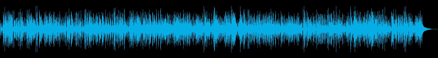 明るいアコースティックジャズピアノトリオの再生済みの波形