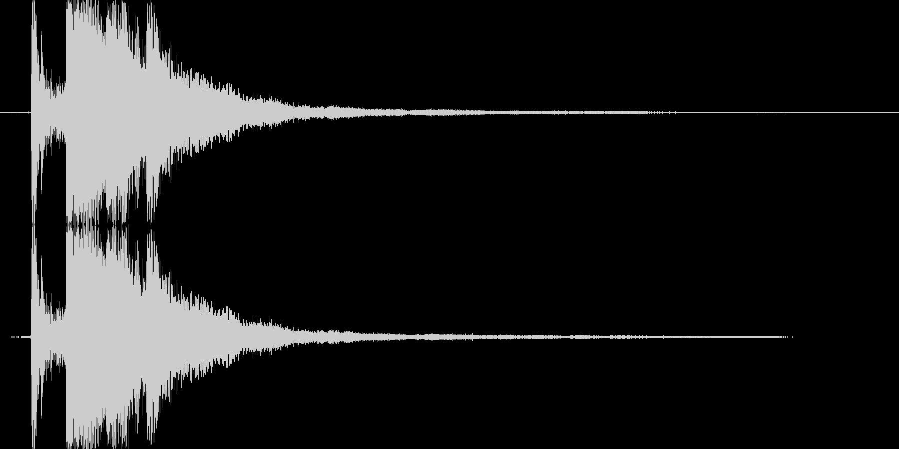 氷・クリスタルが砕ける音1の未再生の波形