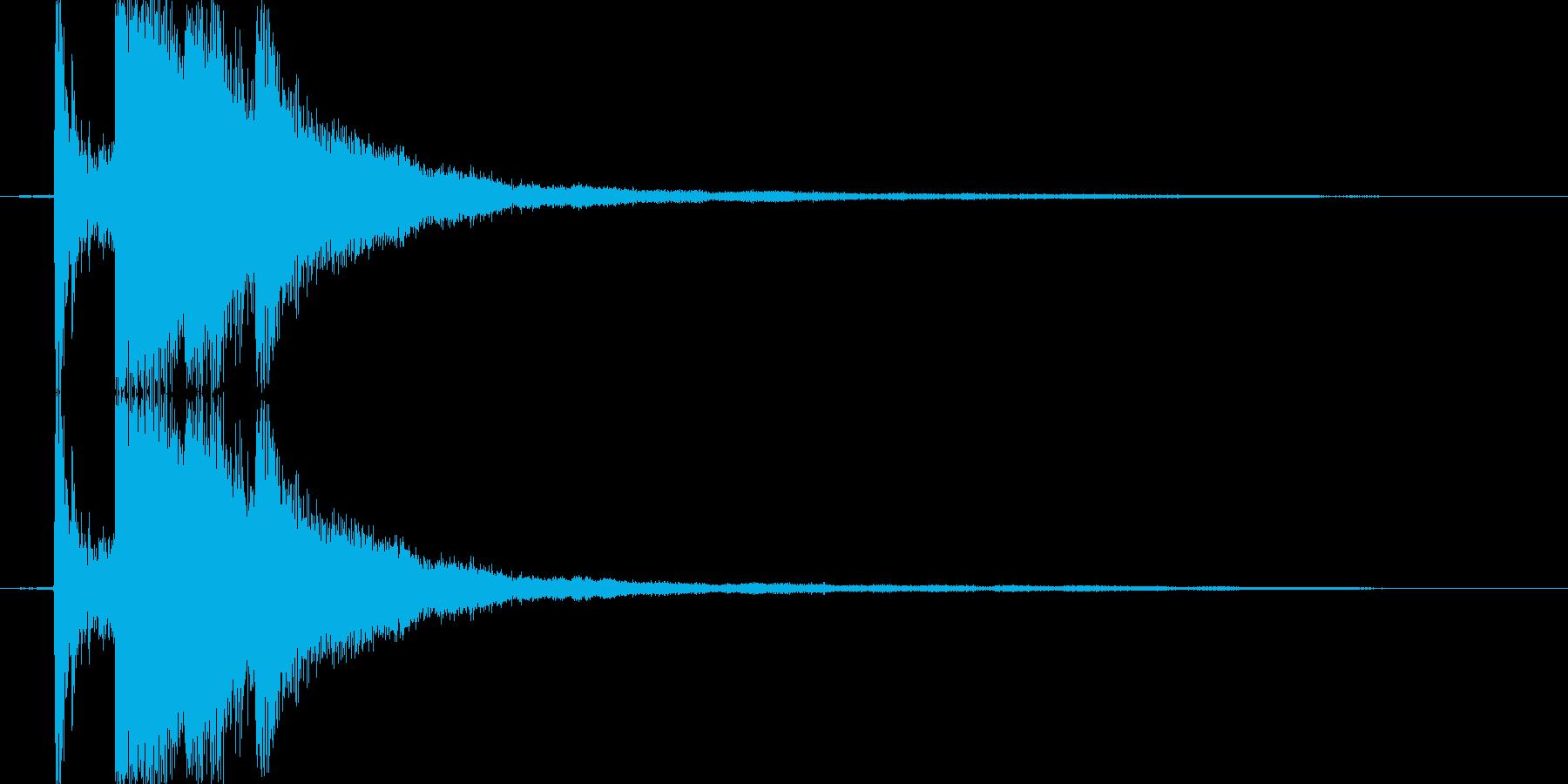 氷・クリスタルが砕ける音1の再生済みの波形