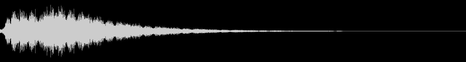 ワープ・瞬間移動・電子音・テレポートcの未再生の波形