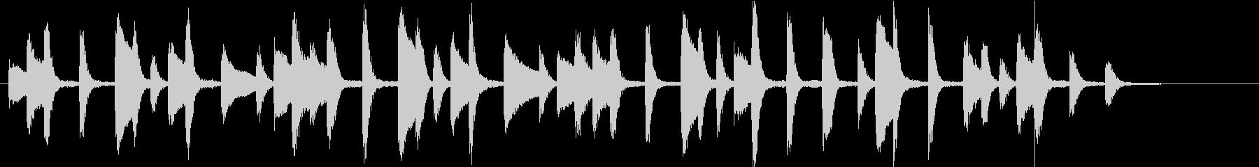 おちゃめで可愛らしい ピアノのジングルの未再生の波形