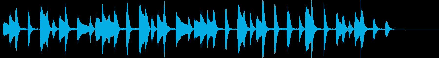 おちゃめで可愛らしい ピアノのジングルの再生済みの波形