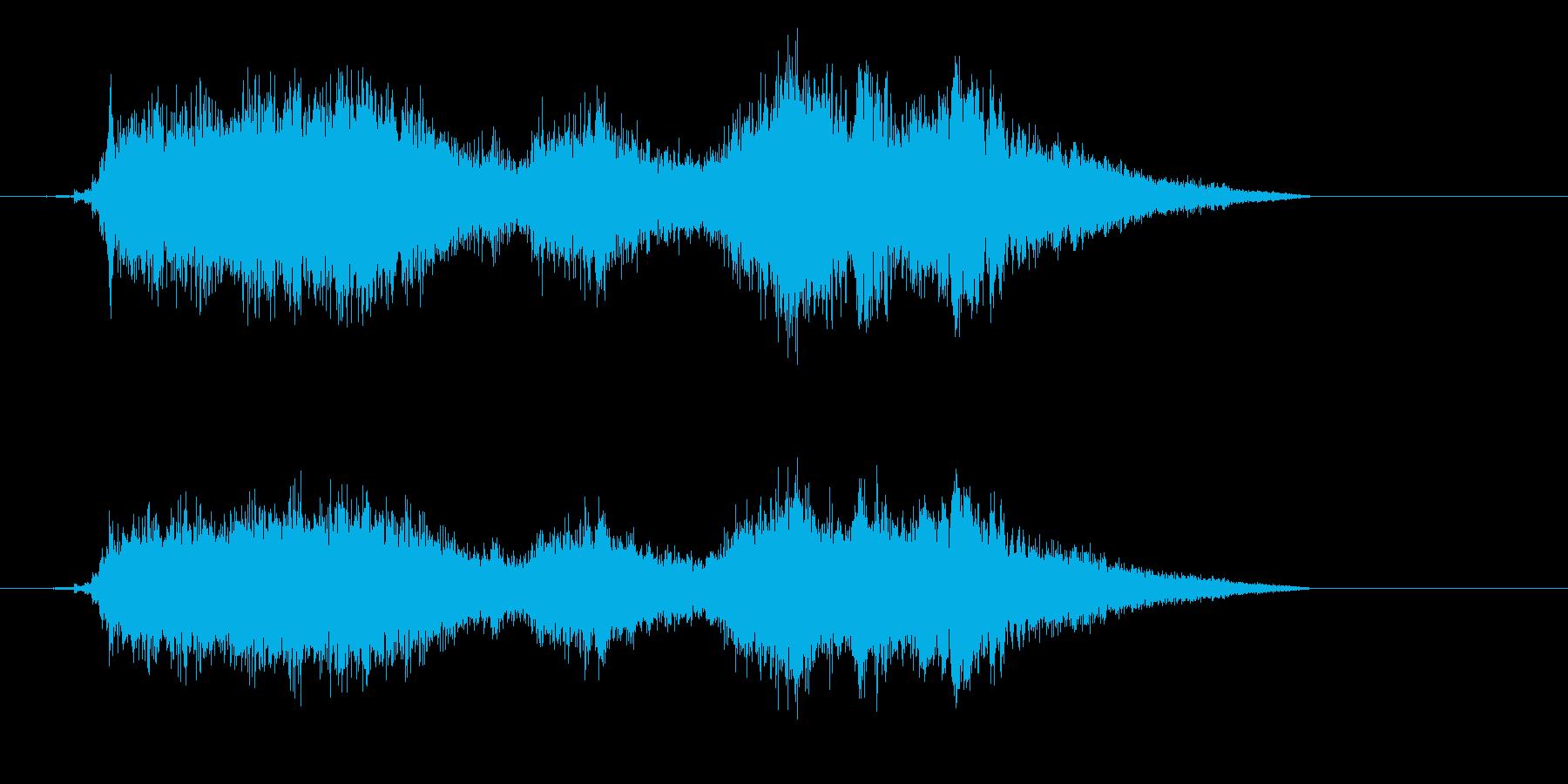 ドリルで木材に穴をあける音7の再生済みの波形