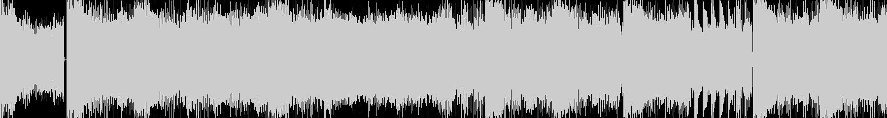 重たく迫力のあるメタルバトル曲 ループ版の未再生の波形