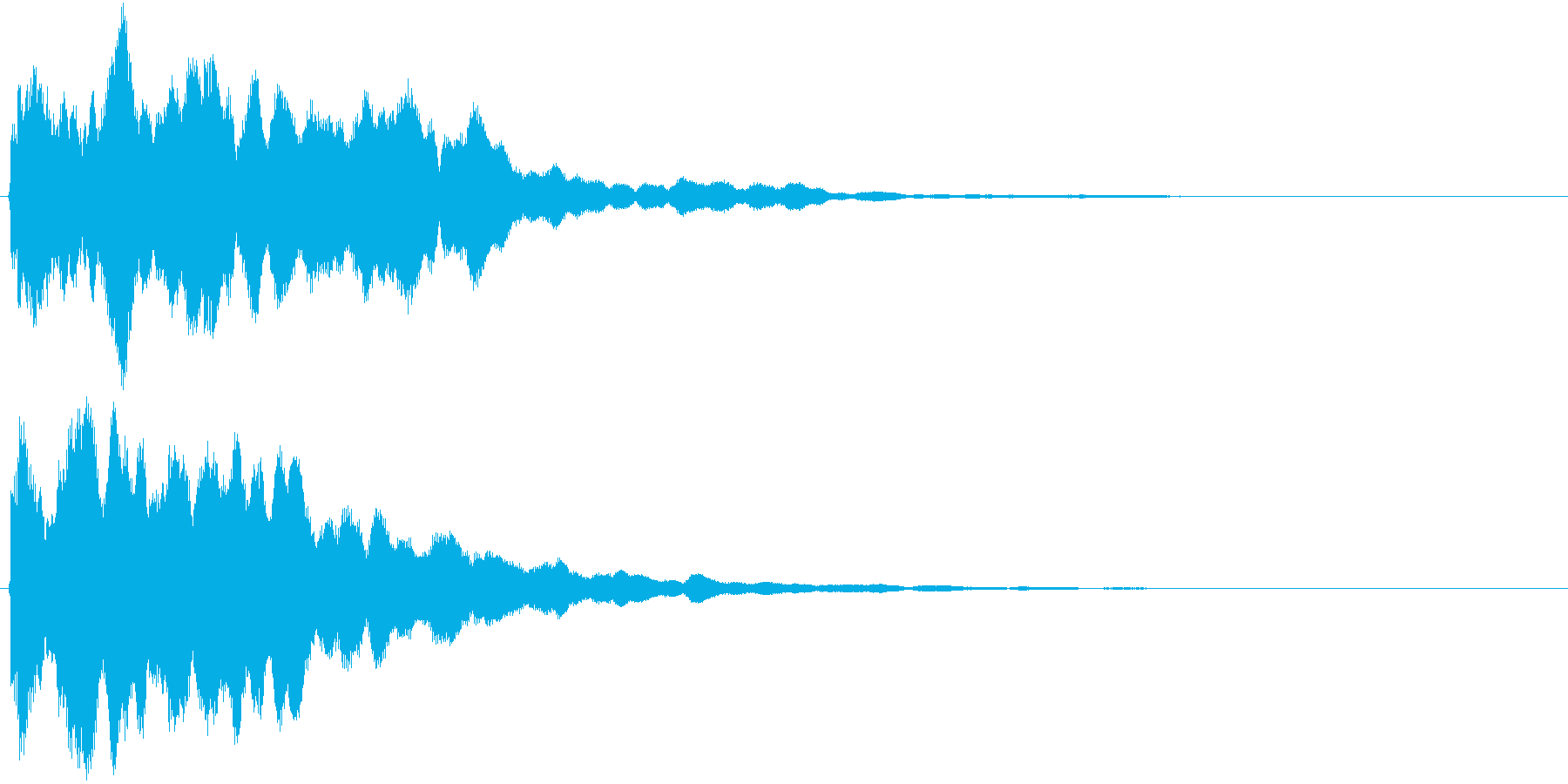 鐘の音でホラー系に使えますの再生済みの波形