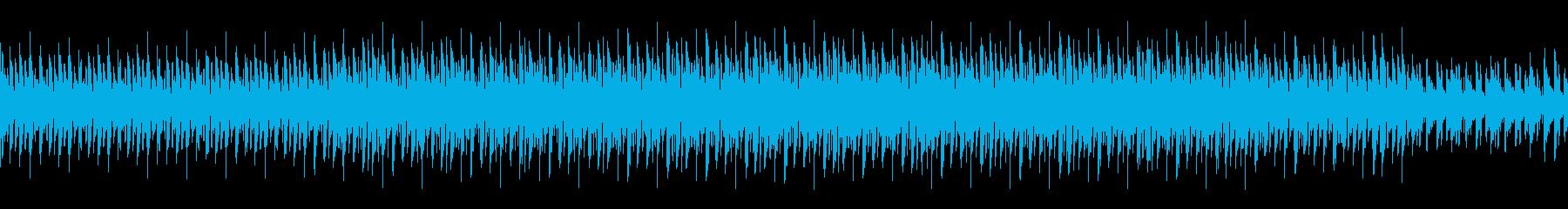 マリンバによるテクノ風ループ曲の再生済みの波形