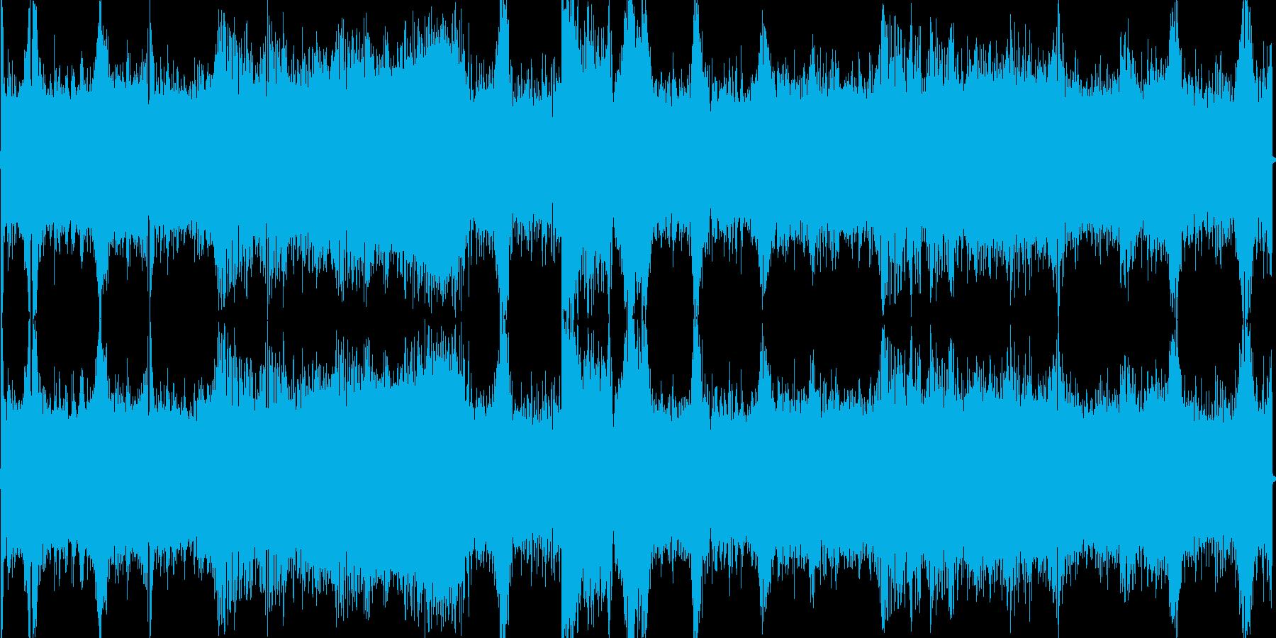 ビームガン銃撃戦の再生済みの波形