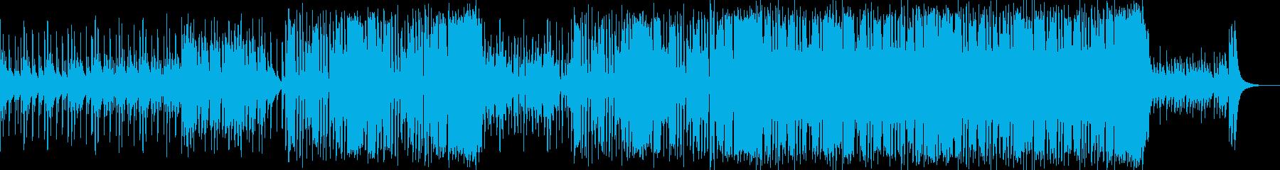 スマートで親しみやすい商品紹介のBGMの再生済みの波形