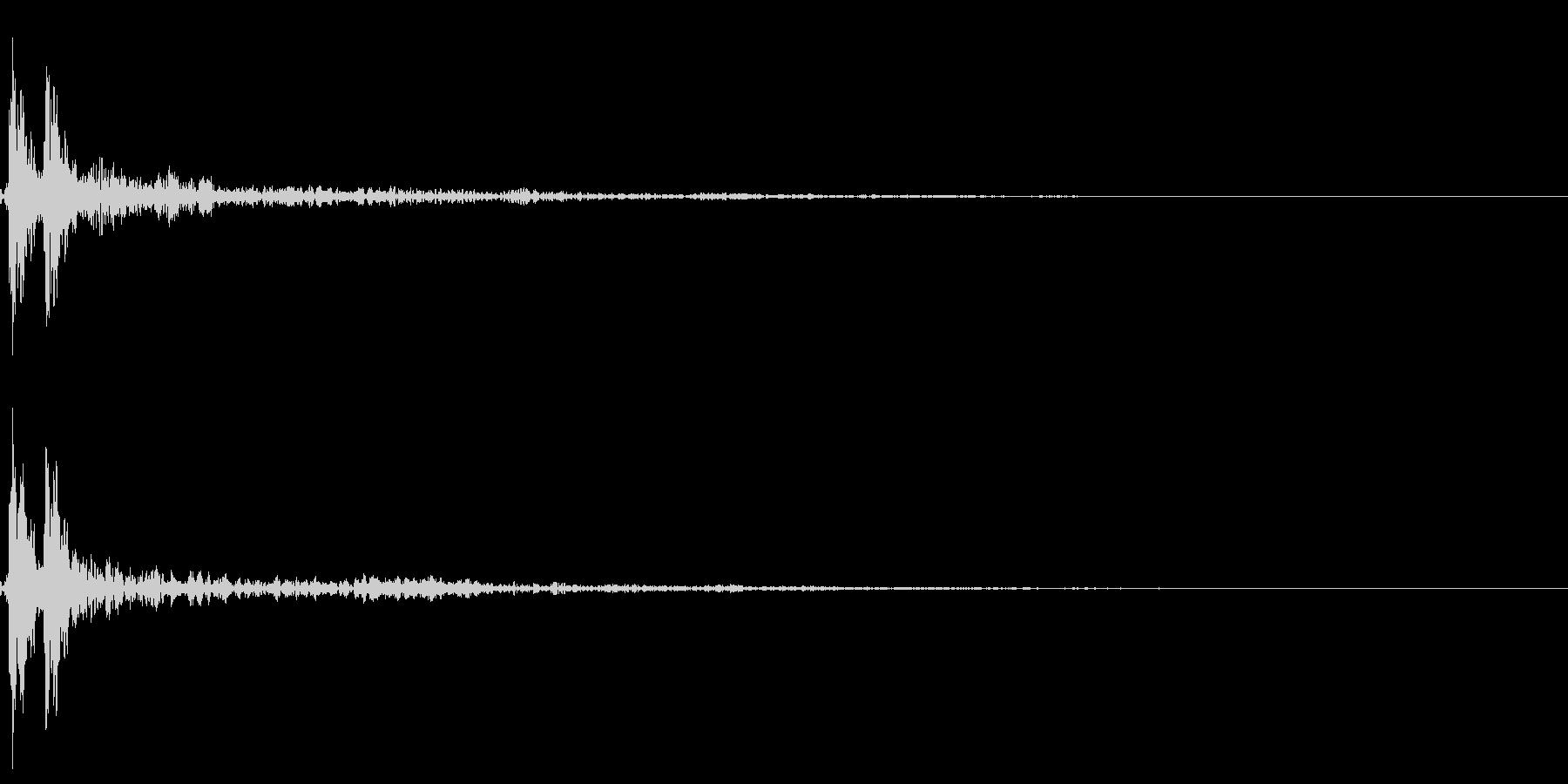 ポン!【鼓・高音・リアル・和風・単発】の未再生の波形