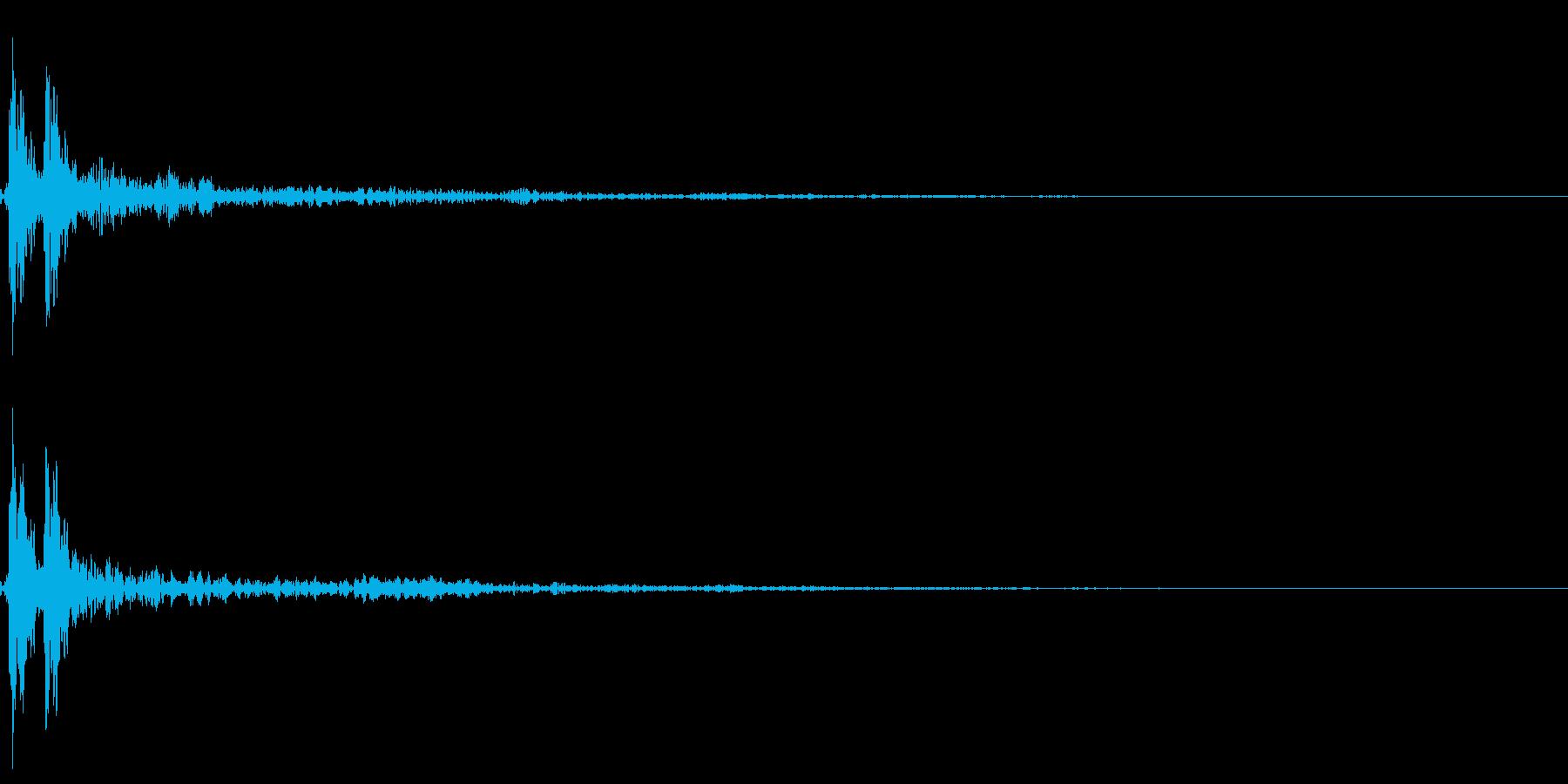ポン!【鼓・高音・リアル・和風・単発】の再生済みの波形