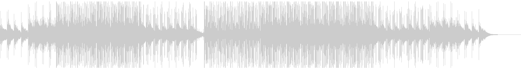 明るくリズミカルノリノリ曲の未再生の波形