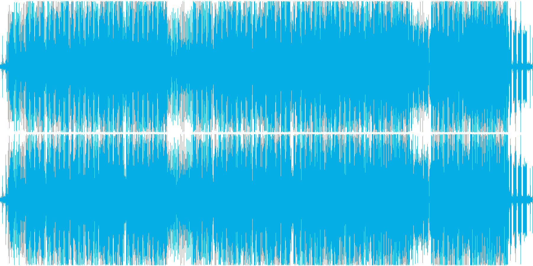 ヒップホップ風のファンキーなR&Bの再生済みの波形