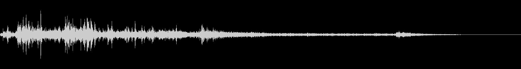 カミナリ(遠雷)-20の未再生の波形