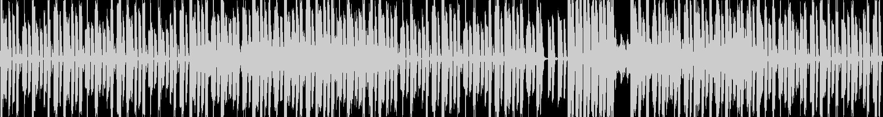 エレクトリックなリズム+ボコーダーの未再生の波形