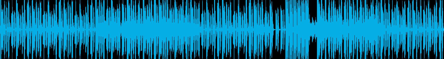 エレクトリックなリズム+ボコーダーの再生済みの波形