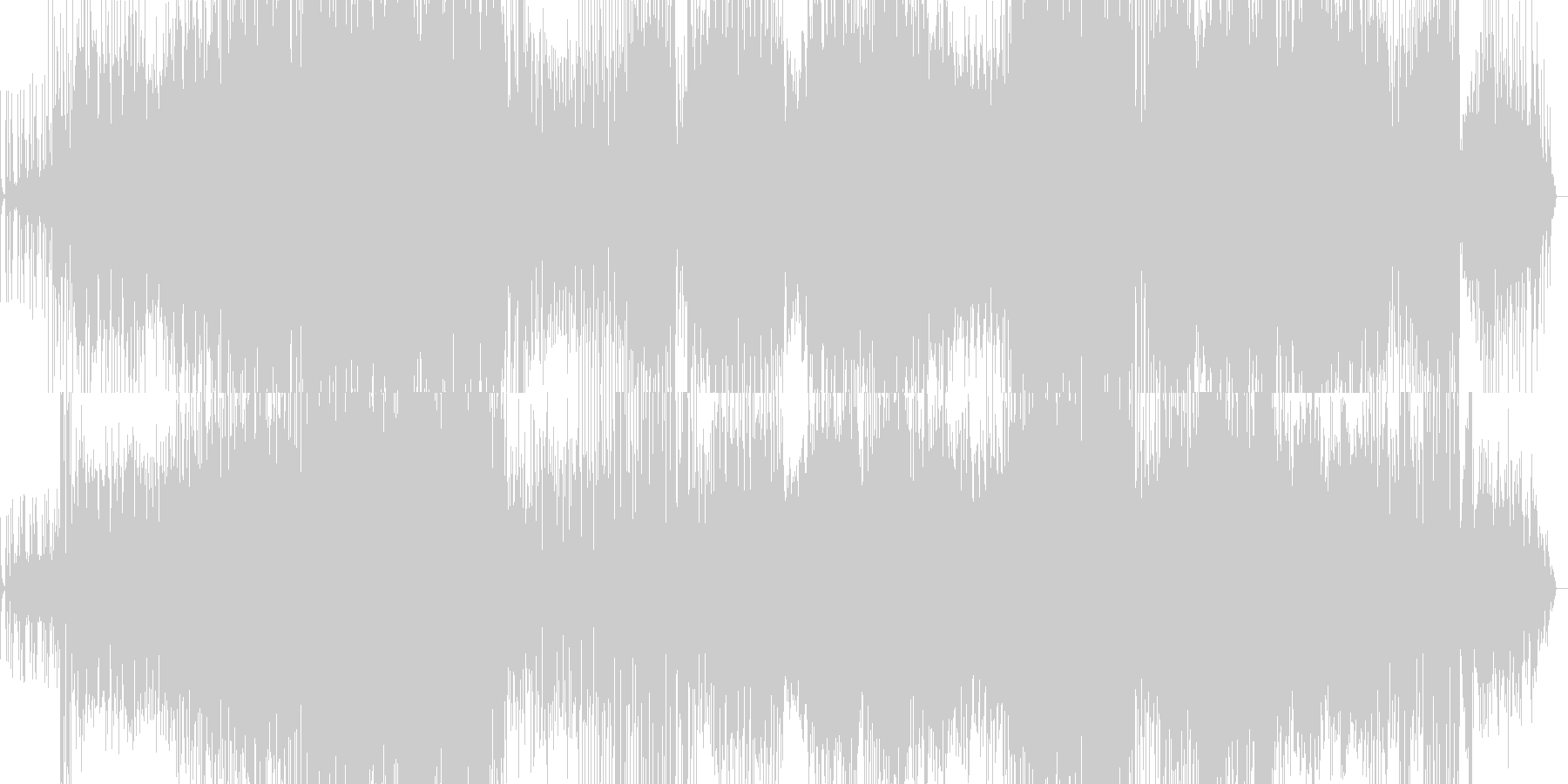 シンプルなポップインストの未再生の波形