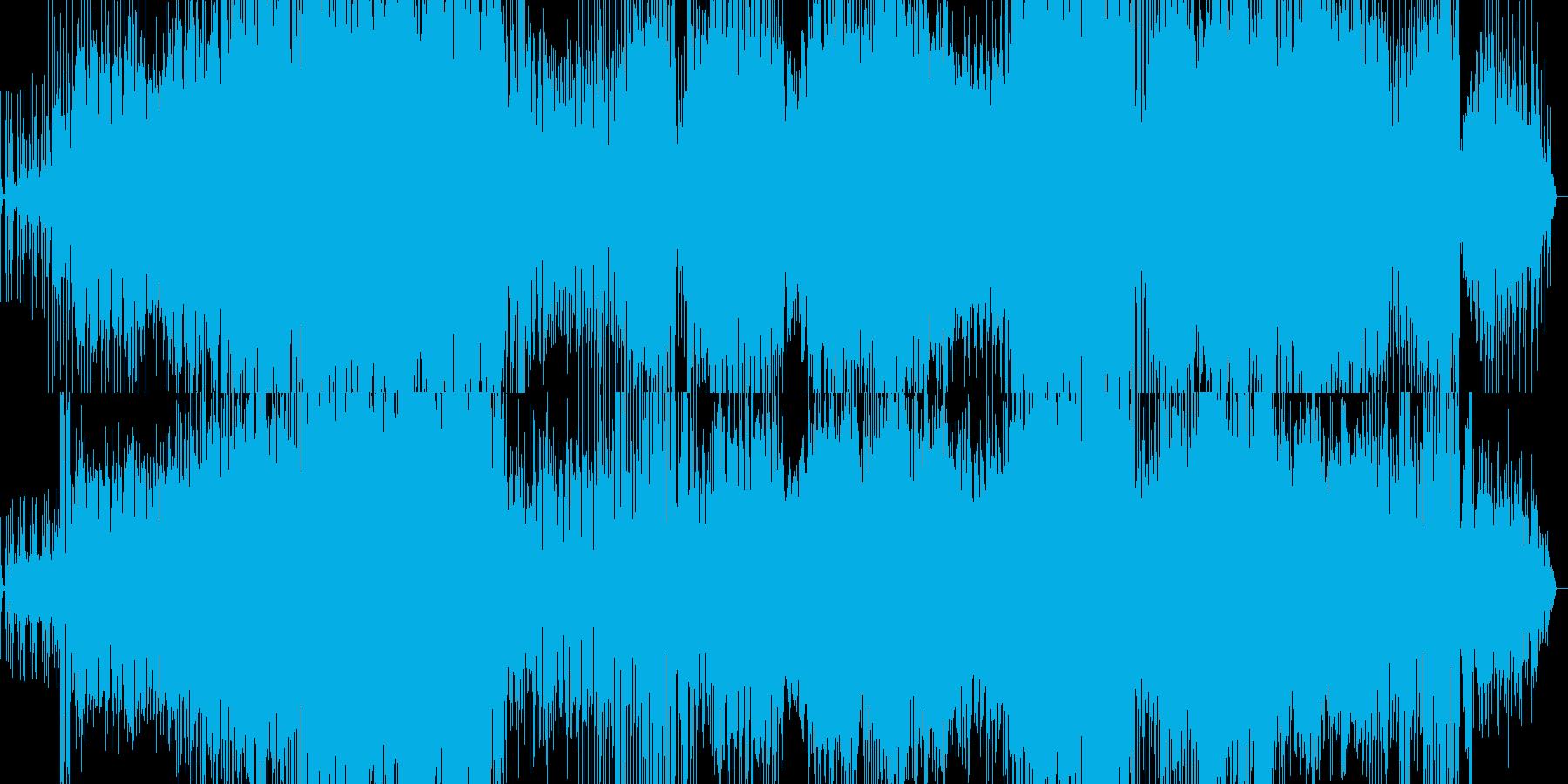 シンプルなポップインストの再生済みの波形