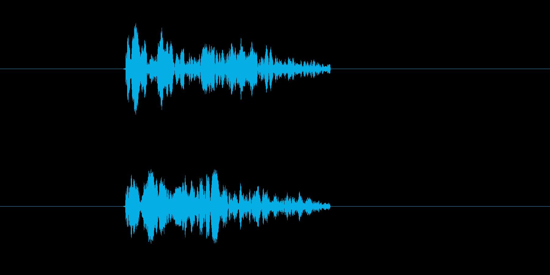 チュイーン(シューティング、ビーム)の再生済みの波形