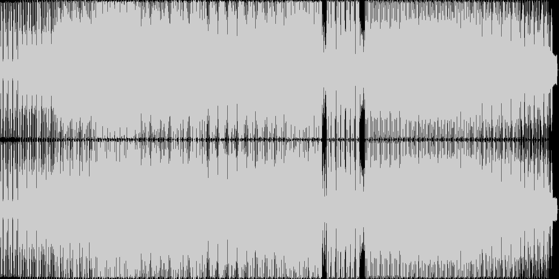 明るいファンク楽曲の未再生の波形