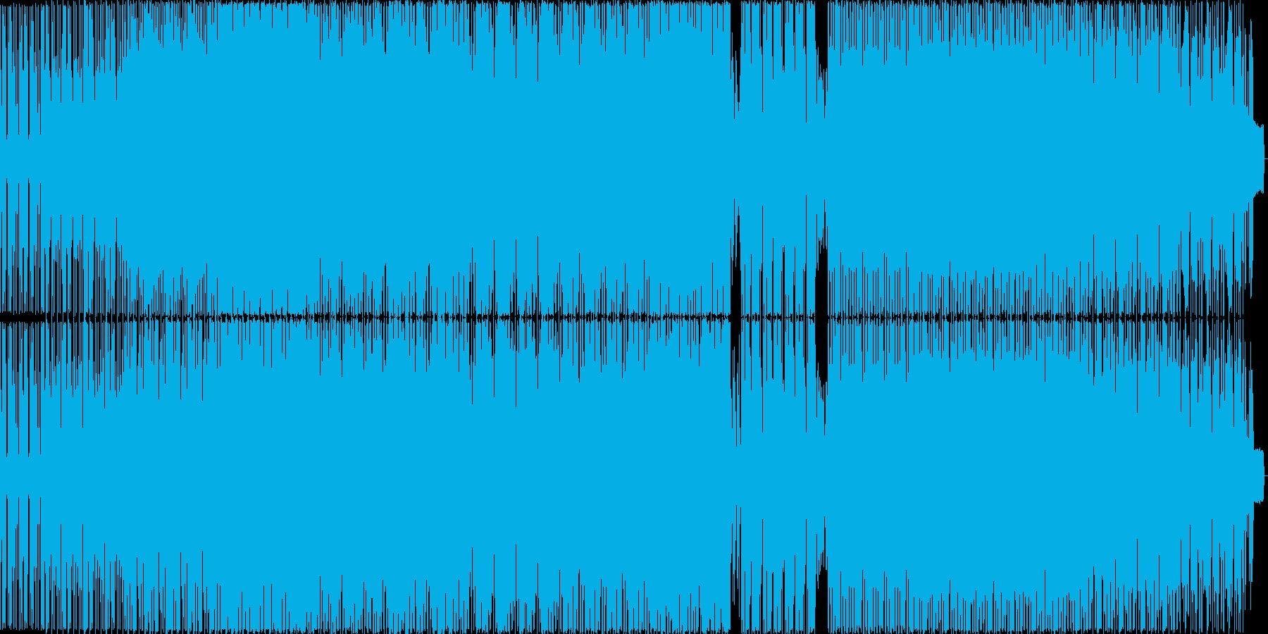明るいファンク楽曲の再生済みの波形